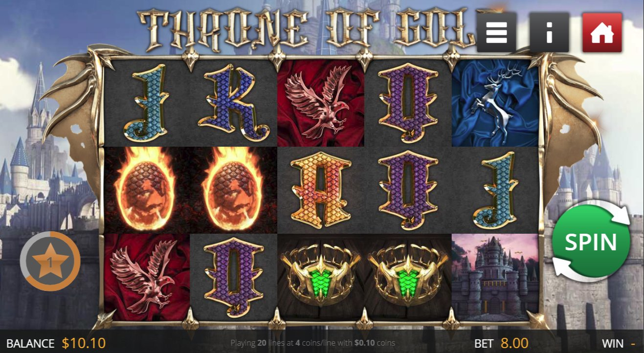 Throne Of Gold Slot Treasure Bonuses